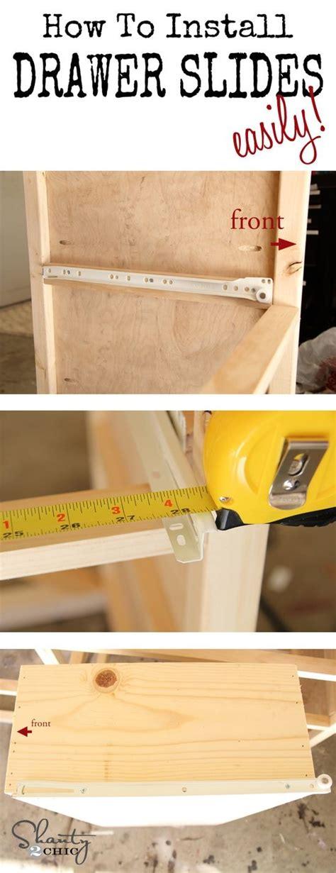 installing drawer slides how to make wood drawer slide easier woodworking