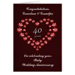 40 year wedding anniversary 40 year anniversary greeting cards zazzle