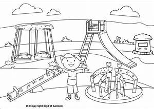 Black and white park clipart