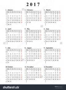 2017 Calendar Printable Monday Start