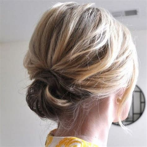 easy updos  short hair