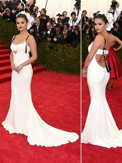 selena gomezs met gala dress wows  backless