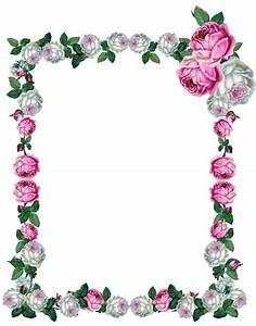 FREE digital vintage rose frame | marcos para tarjetas ...