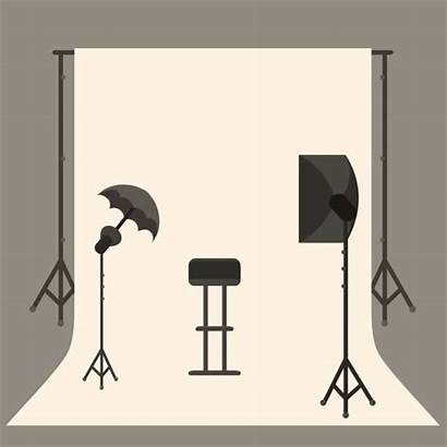 Studio Vector Icon Shoot Clip Apartment Illustration
