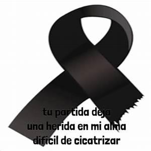 Rosas negras, moños y lazos con mensajes y frases de condolencias por la pérdida de un ser