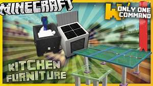 Minecraft kitchen furniture with only two command blocks for Kitchen furniture minecraft command
