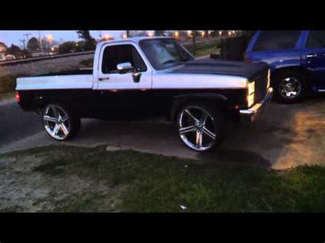 bed chevy silverado truck squatted on 26 quot forgiatos big block chevy c 10 bed truck 26 irocs by chevygangtv