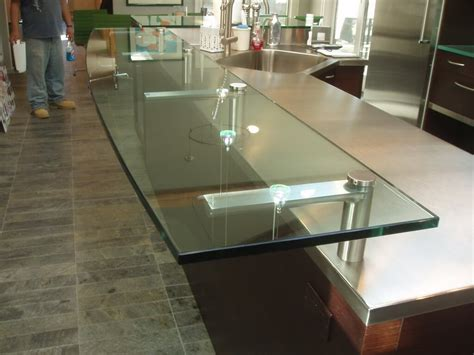 kitchen island countertop ideas glass products