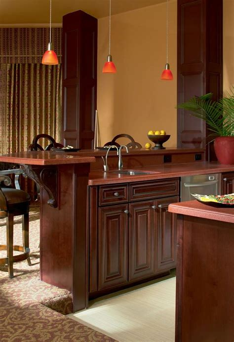 waypoint cabinets vs kraftmaid waypoint living spaces style 720 in cherry bordeaux