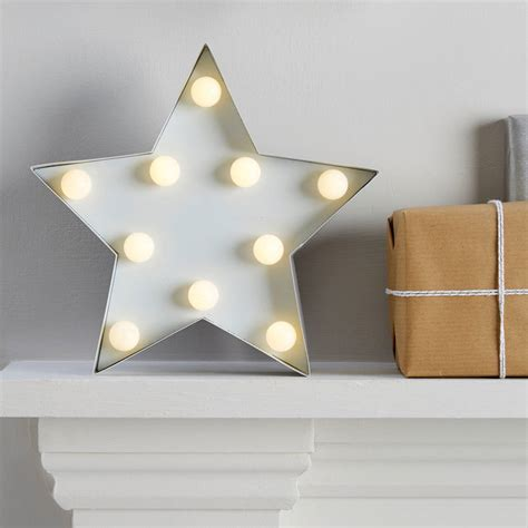 Light Up Metal Star Sign Decoration By Ginger Ray
