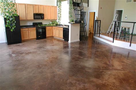 Painting Concrete Floors To Look Like Tile With Brown