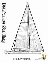 Coloring Pages Sailing Boat Ships Ship Yacht Boats Yescoloring Superb sketch template