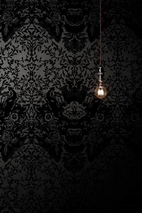 decor dark  decadent wallpaper tastefully gothic