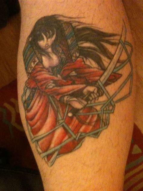 female samurai tattoo