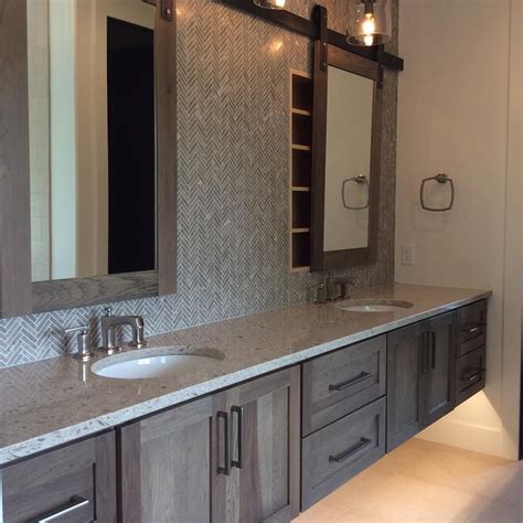 Master Bathroom Mirrors by Master Bath In Hickory With Morel Stain Cambria Darlington