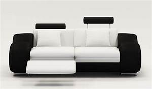 deco in paris ensemble canape relax design 3 2 1 places With canapé design noir et blanc