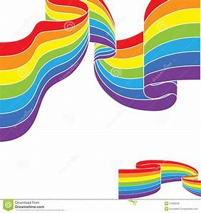 Abstract Colorful Rainbow Color Border Vector Stock Vector ...