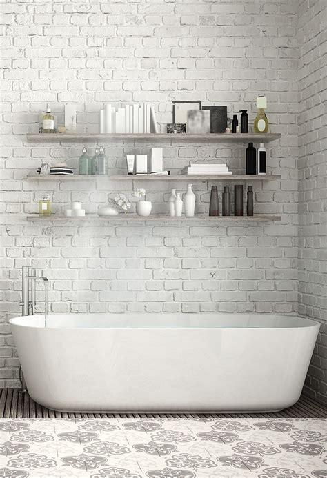 mur salle de bain d 233 co briques comment sublimer ses murs but