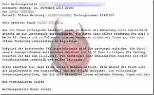 Offene Rechnung Von Mail Media : offene forderung bei der mail media ag trojaner warnung mimikama ~ Themetempest.com Abrechnung
