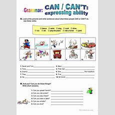 Can  Expressing Ability Worksheet  Free Esl Printable Worksheets Made By Teachers