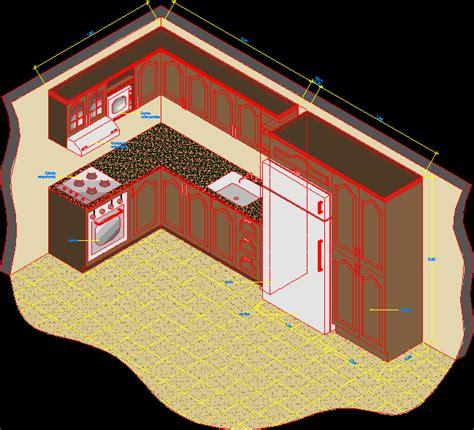 isometric kitchen appliance dwg block  autocad