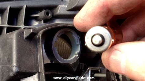 toyota avensis headlight bulb and indicator turn signal bulb replacement youtube