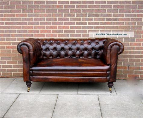 vintage leather loveseat antique leather sofa beautiful brown tufted leather sofa 3236