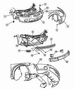 Service Manual  2004 Chrysler Sebring Bumper Removal