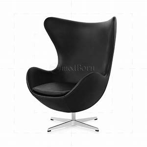 Egg Chair Arne Jacobsen : arne jacobsen style egg chair black leather ~ Bigdaddyawards.com Haus und Dekorationen