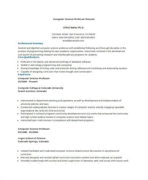 computer science resume    word