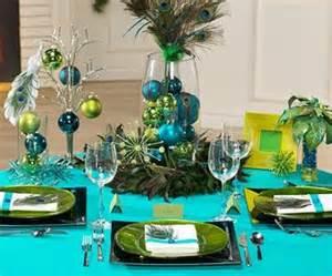 peacock theme christmas table decorating ideas 2060175 weddbook