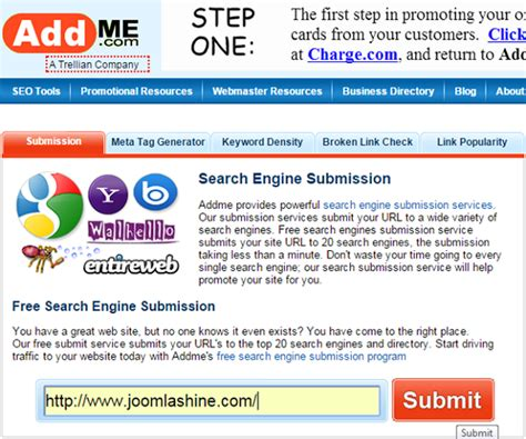 submit to search engines how to submit your joomla site to search engines