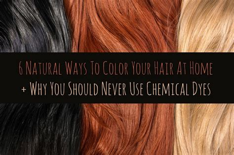 natural ways  color  hair  home