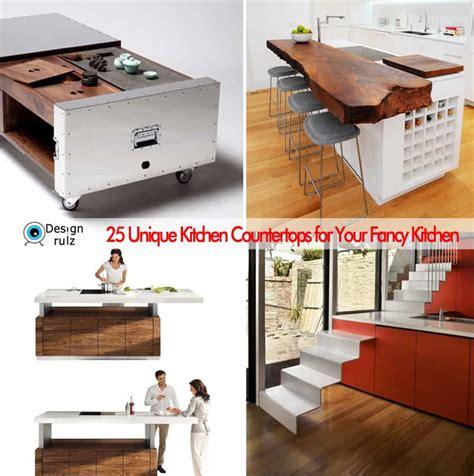 25 Unique Kitchen Countertops by 25 Unique Kitchen Countertops For Your Fancy Kitchen