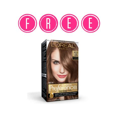 Box Hair Dye by Free Box Of L Oreal Hair Color