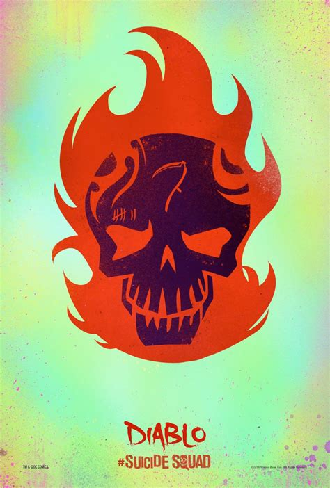 suicide squad posters give  hero  stylish skull