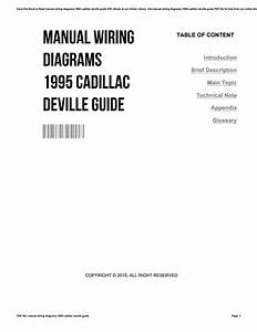 Manual Wiring Diagrams 1995 Cadillac Deville Guide By