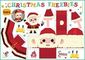 free pinterest make a santa reindeer elf christmas tree diy printables print out templates
