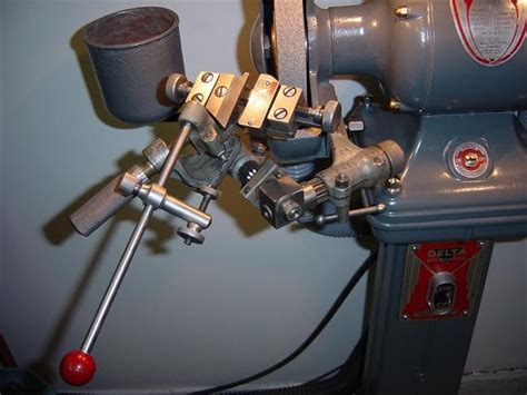 Bench Type Drilling Machine by Rockwell Grinder Drill Grinding Attachment Jeff S Old