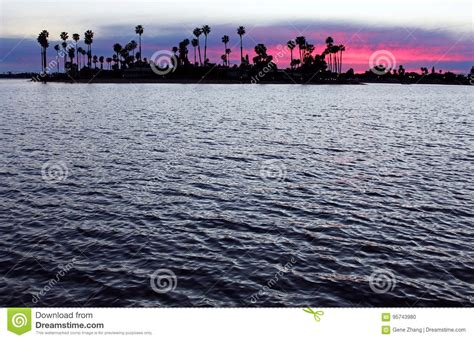 Mission Bay Sunset San Diego Stock Photo Image Many