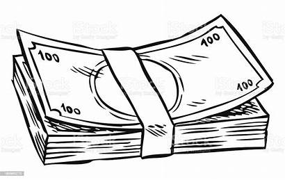 Money Drawing Cartoon Vector Currency Illustration Paper