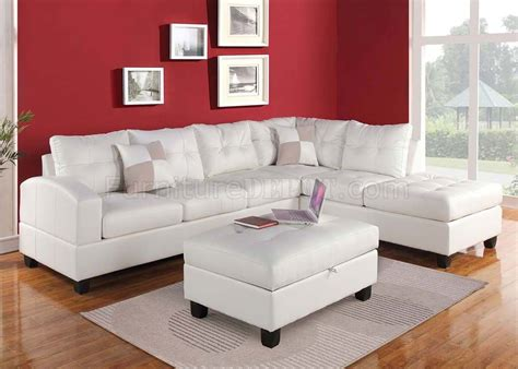 What Is Sectional Sofa by 51175 Kiva Sectional Sofa In White Bonded Leather By Acme
