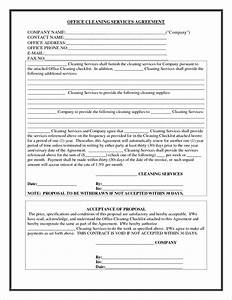 8 cleaning contract templatereport template document With janitorial contracts templates