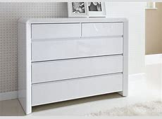 Ice High Gloss Chest White Chest of Drawers Furniture