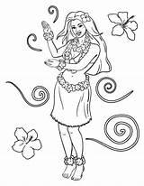 Coloring Hula Pages Printable Coloringcafe Pdf Sheet Da Luau sketch template