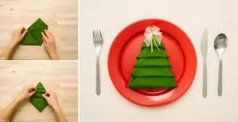 how to make christmas tree napkin fold all steps diy crafts handimania