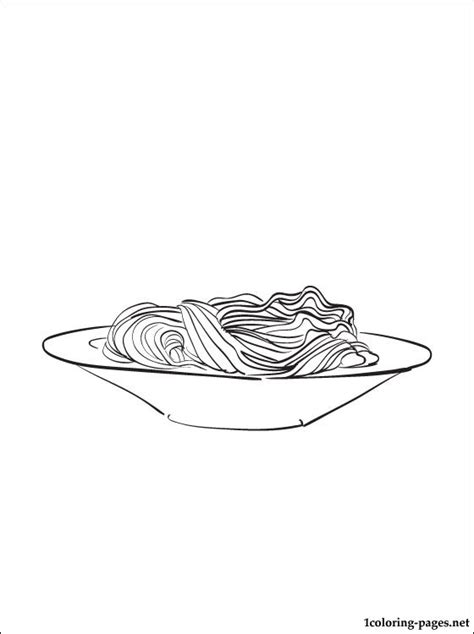 noodles coloring page coloring pages