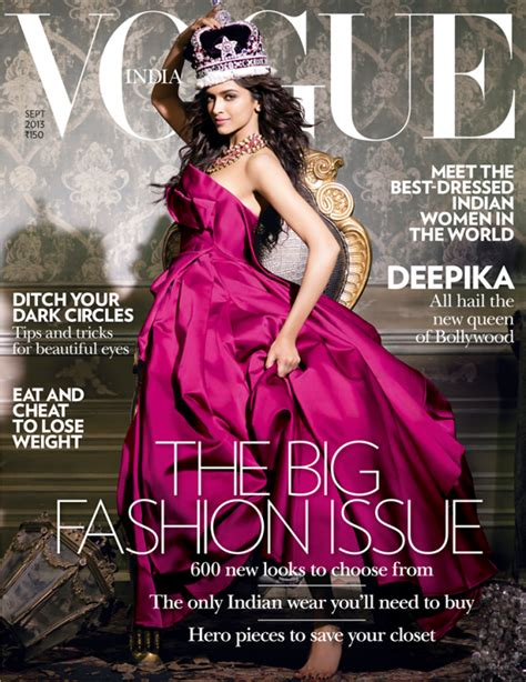 latest vogue cover latest vogue magazine photo shoot of deepika padukone