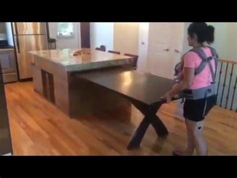 tables de cuisines ilot de cuisine table coulissante de retour
