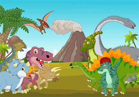 Cartoon Dinosaurs Wall Mural